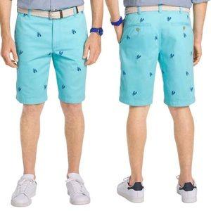 NWOT! IZOD Saltwater Lobster Print Shorts - 32